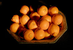 Bowl of tangerines Stock Photography