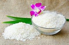 Bowl of Thai jasmine rice Stock Photos