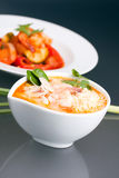 Bowl of Thai Shrimp Soup Stock Photos