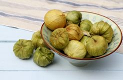 Bowl of Tomatillo Stock Images