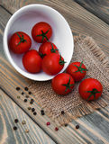 Bowl with tomato Royalty Free Stock Photography