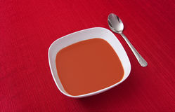 Bowl of tomato soup Royalty Free Stock Image