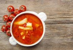 Bowl of tomato soup Royalty Free Stock Photos