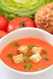Bowl of Tomato Soup Stock Photos