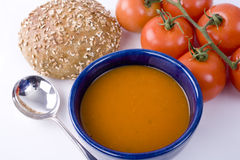 Bowl of Tomato Soup royalty free stock images