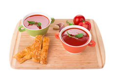 Bowl of tomato soup. Stock Images