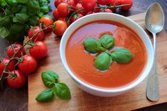 Bowl with tomato Stock Image