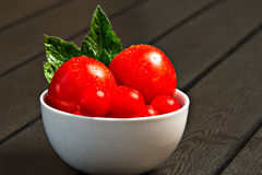 Bowl with tomatoes Royalty Free Stock Images