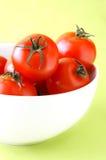bowl tomatoes 图库摄影