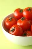 bowl tomatoes 免版税图库摄影