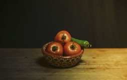 Bowl of tomatoes Royalty Free Stock Image
