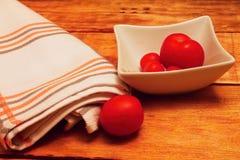 Bowl with tomatos stock photos