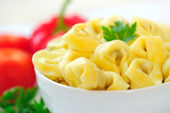 Bowl with tortellini Stock Images