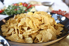 Bowl of tortilla chips Stock Photo