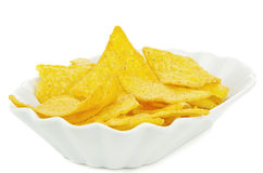 A bowl of tortilla chips Royalty Free Stock Photo