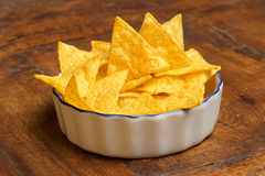Bowl of tortilla chips Royalty Free Stock Photos