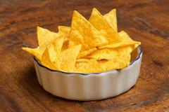 Bowl of tortilla chips royalty free stock photos