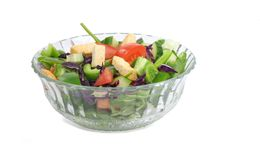 Bowl of Tossed Salad Royalty Free Stock Photos