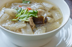 Bowl of Tradition Thai Style Soup Royalty Free Stock Photo