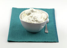 A bowl of traditional yogurt Stock Image