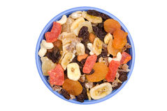 Bowl of trail mix Stock Images