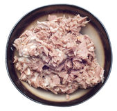 Bowl of Tuna Salad with Mayonaise Stock Image