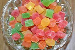 Bowl of turkish delight. royalty free stock image