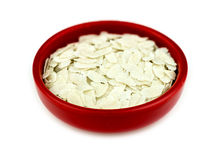 Bowl of uncooked puffed rice poha isolated Royalty Free Stock Image