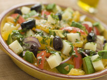 Bowl of Valencian Salad. In a bowl Royalty Free Stock Photo