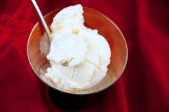 Bowl of vanilla ice cream Royalty Free Stock Images