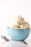 Bowl of vanilla ice cream Royalty Free Stock Image