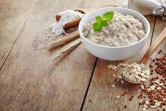 Bowl of various flakes porridge Royalty Free Stock Images