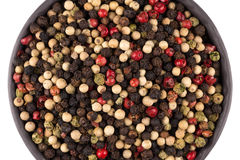 Bowl of various pepper Royalty Free Stock Images