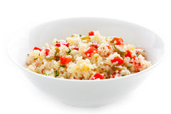 Bowl of vegetable couscous Royalty Free Stock Photography
