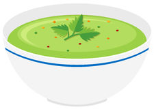 Bowl of vegetable cream soup Royalty Free Stock Images