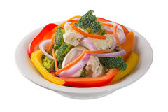 Bowl of vegetable salad Stock Photography