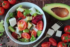 Bowl with vegetable salad Stock Photos