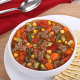 Bowl of Vegetable Soup Royalty Free Stock Images