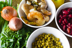 Bowl of vegetables Stock Images