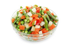 Bowl of vegetables Stock Photography