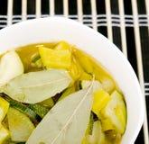 Bowl of vegetarian soup Stock Photo