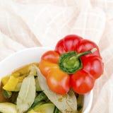 Bowl of vegetarian soup Stock Photos