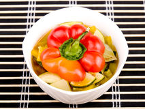 Bowl of vegetarian soup Royalty Free Stock Image