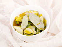 Bowl of vegetarian soup Royalty Free Stock Image