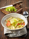 Bowl of vegetarian soup Stock Images