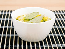 Bowl of vegetarian zucchini and paprika soup Stock Image