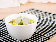 Bowl of vegetarian zucchini soup Royalty Free Stock Images