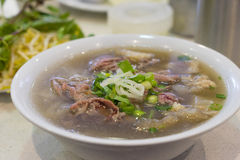 Bowl of Vietnamese pho noodle soup Royalty Free Stock Photos
