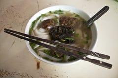 Bowl of Vietnamese soup Royalty Free Stock Photos