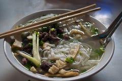 Bowl of Vietnamese soup Stock Photography